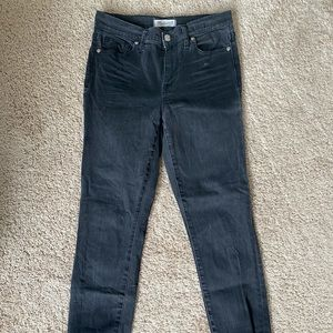 Madewell Black Faded Jeans